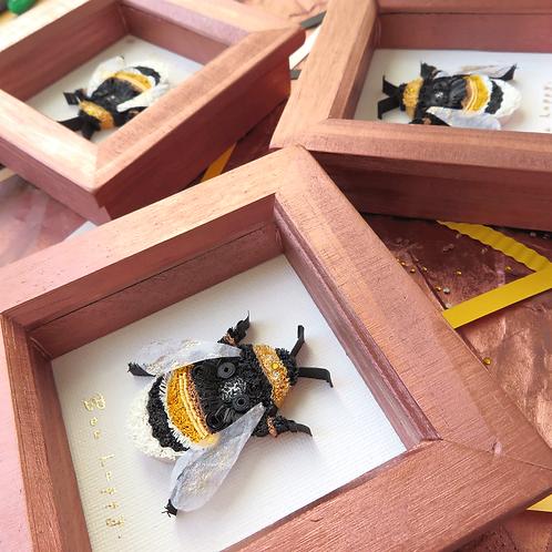 Original Framed Quilled Paper Bee