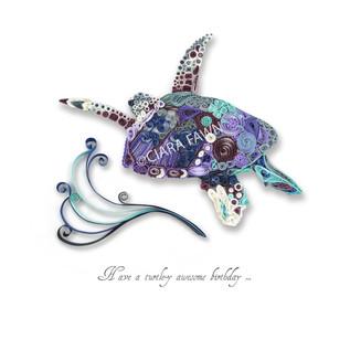 Ciara Fawn 'Paper world' range - turtle