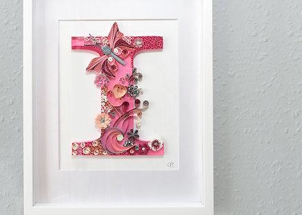 Bespoke Framed Quilled Paper Letter