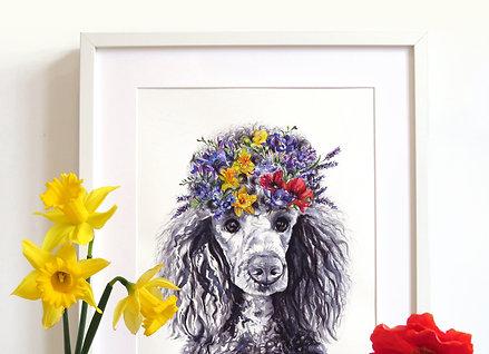 Bespoke Original Watercolour Painting - Flower Pet Portrait