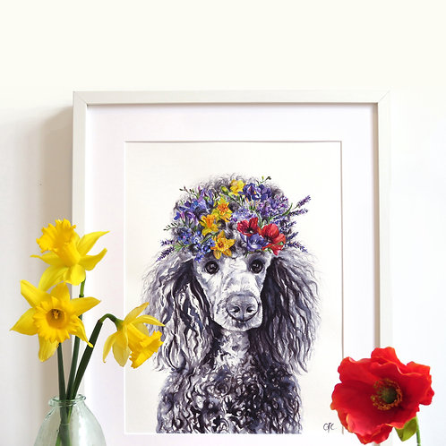 Bespoke Original Watercolour Painting - Flower Pet Portrait