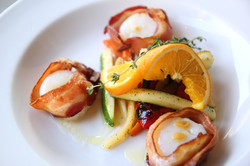 Smoky Bacon-wrapped Sea Scallops