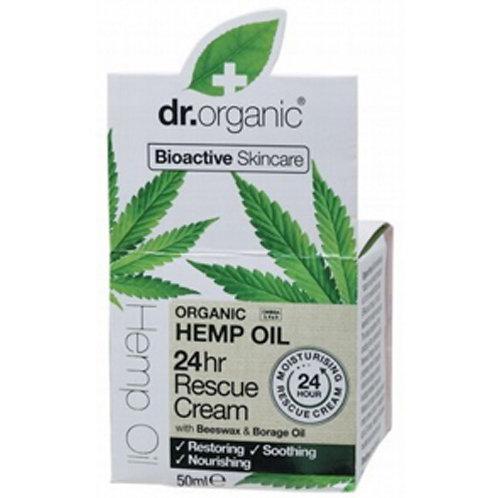 Dr Organic Восстанавливающий крем с конопляным маслом 24 часа
