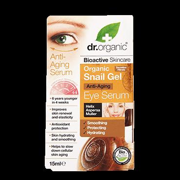 Dr Organic сыворотка для кожи вокруг глаз с экстрактом улиточной слизи