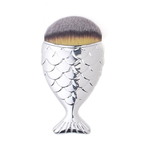 Mermaid Salon Контурная кисть для макияжа THE ORIGINAL CHUBBY Silver