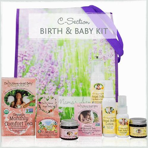 Earth Mama Подарочный набор для малыша и мамы (после кесарева сечения)
