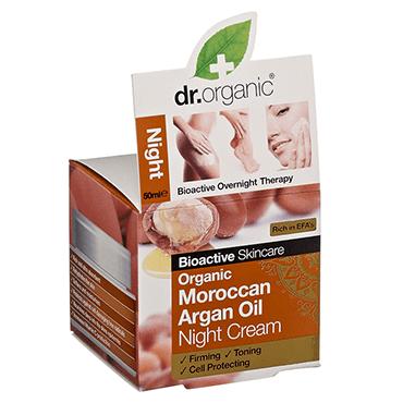 Dr Organic Ночной крем с аргановым маслом