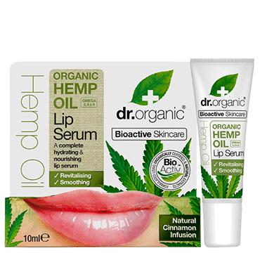 Dr Organic Сыворотка для губ с конопляным маслом