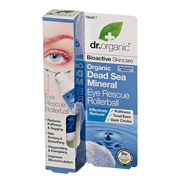 Dr Organic Роллер для кожи вокруг глаз с минералами Мертвого моря
