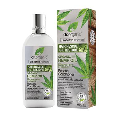 Dr Organic Восстанавливающий кондиционер для волос с конопляным маслом