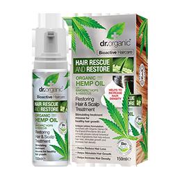 Dr Organic Мусс-уход для кожи головы и волос с конопляным маслом