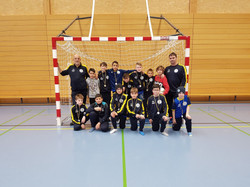 Poussins-Equippen um Indoortournoi 2018