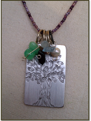 Family - Tree of Life Pendant (Natural Birthstones not included)