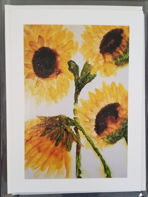 Original Print - Sunflowers x 4 (4 pack)
