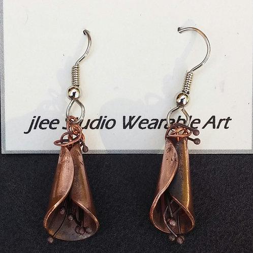 Dancing Copper Fringe Earrings