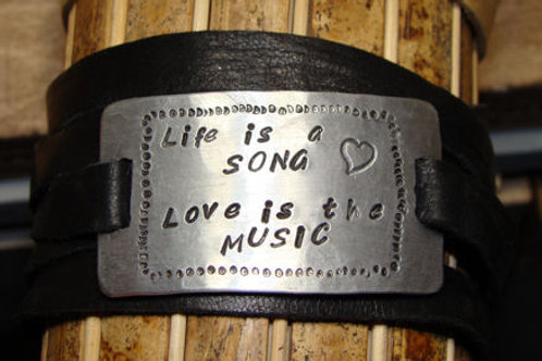 Life is a Song Love is the Music Bracelet