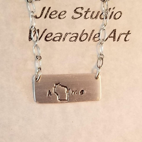 WI home Bar Necklace