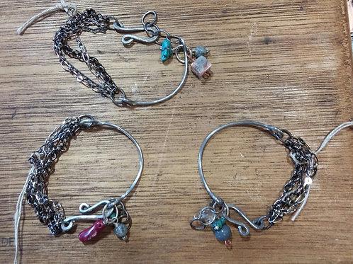 Half Hitch Bracelet w/Natural Stones
