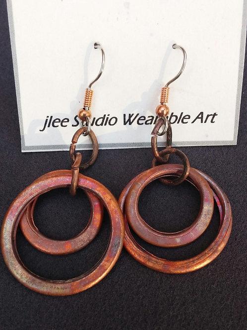 Repurposed Copper Water Pipes Earrings