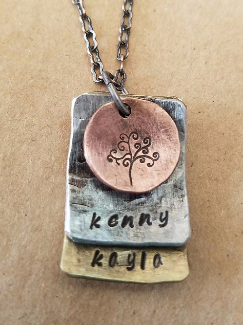 Family Tree - 3 Stack Round/Rectangle - Distressed