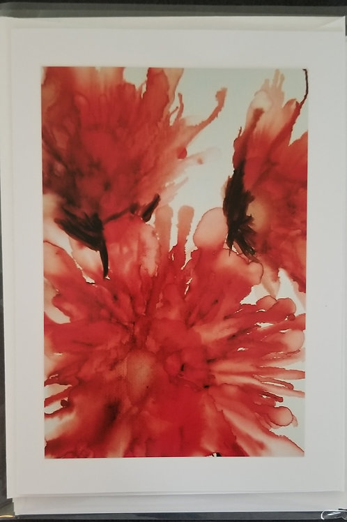 Original Print - Trio of Red Abstracts (4 pack)