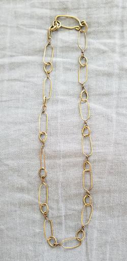 Brass Links Necklace (20)