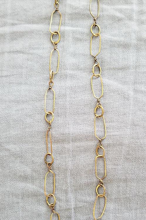 """Brass Links 20"""" Necklace"""