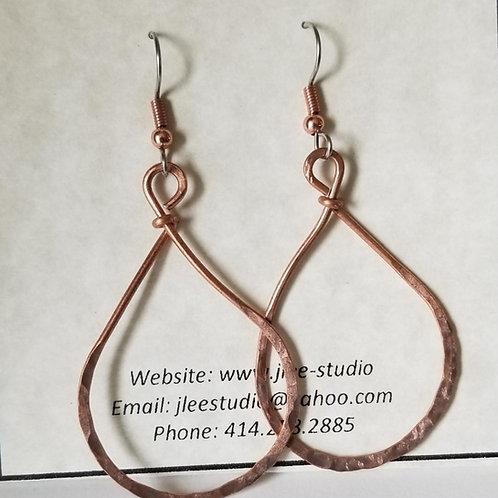 Copper Wire Teardrops