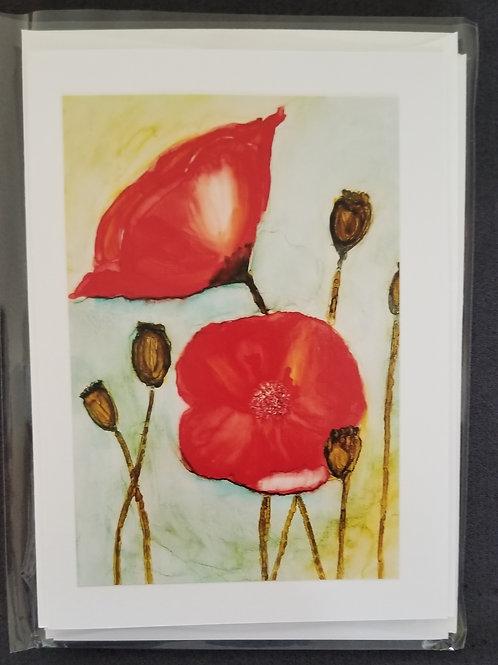 Original Print - Red Poppies (4 pack)