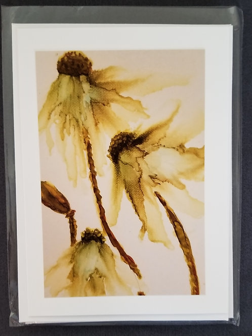 Original Print - White Abstract Flower (4 pack)