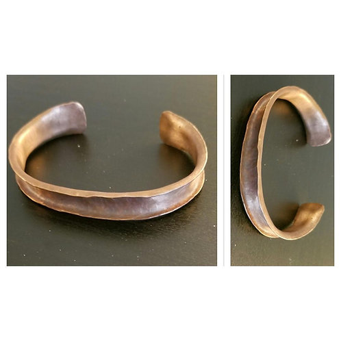 Copper Curled Edge Cuff