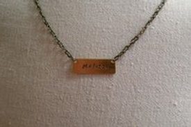 "Personalized ""Insert"" Necklace"
