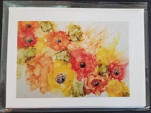 Original Print - Beautiful Bouquet of Summer Colors (4 pack)