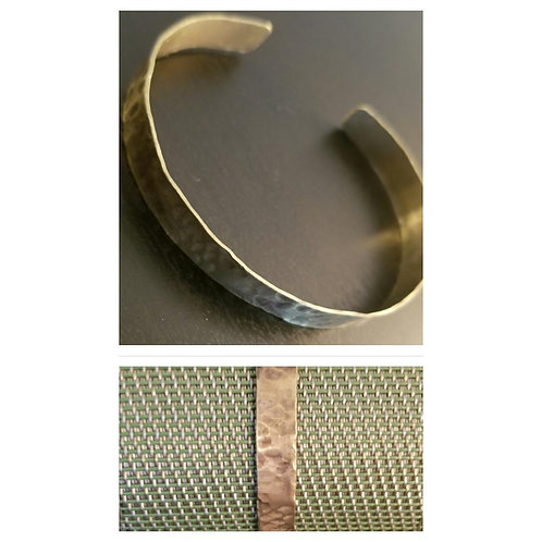 Distressed Brass Cuff