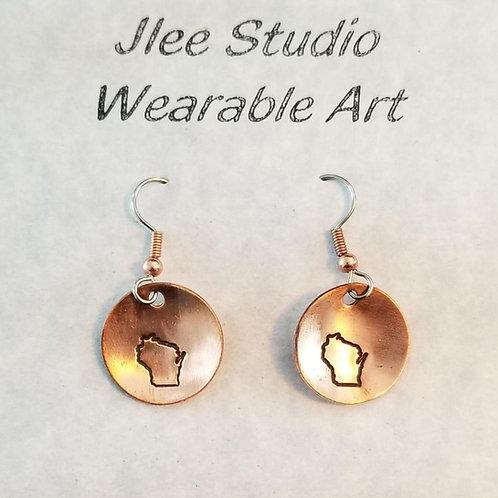 Wisconsin Charm Earrings