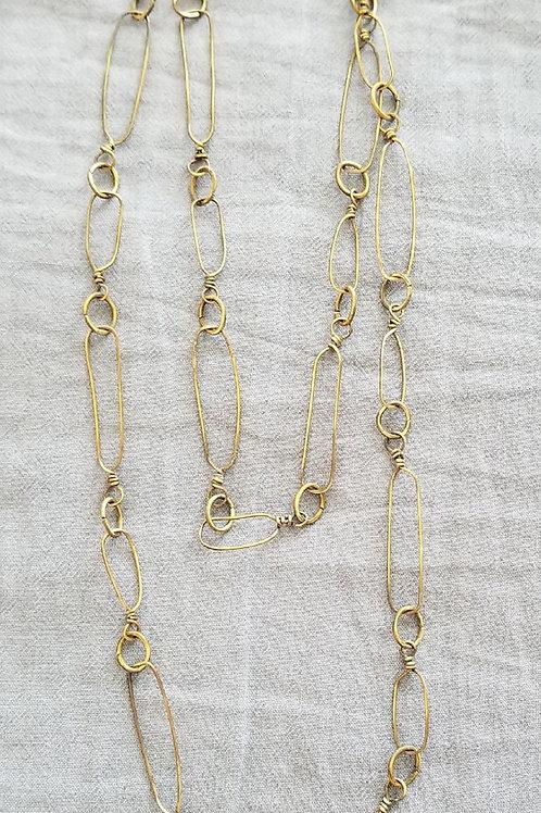 """Brass Links 42"""" Necklace"""