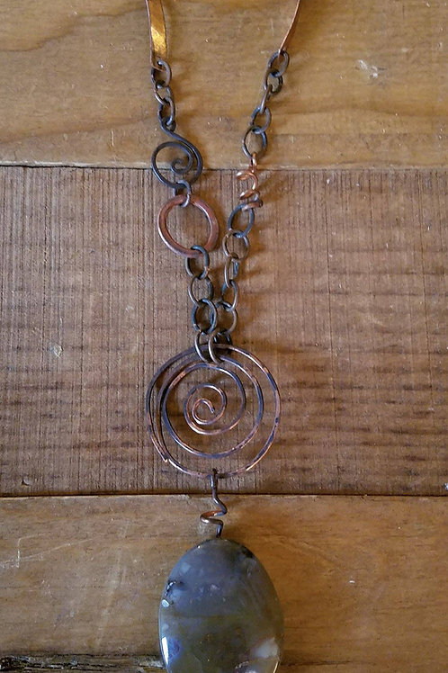 Jasper & Copper Pendant Necklace