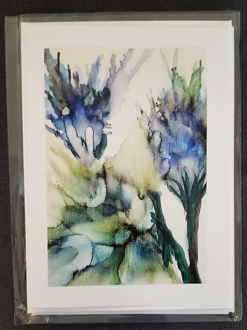 Original Print - Trio of Blue Iris' (4 pack)