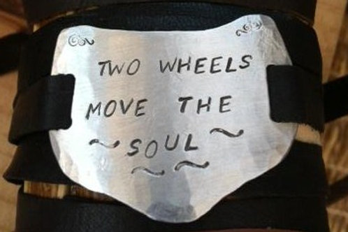 Two Wheels Move the Soul Bracelet
