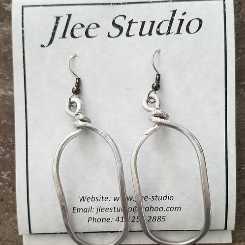 Large Oval Earrings (shown here in Alum)