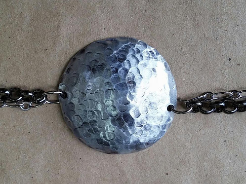 Domed + Hammered Aluminum Disc (extra large)
