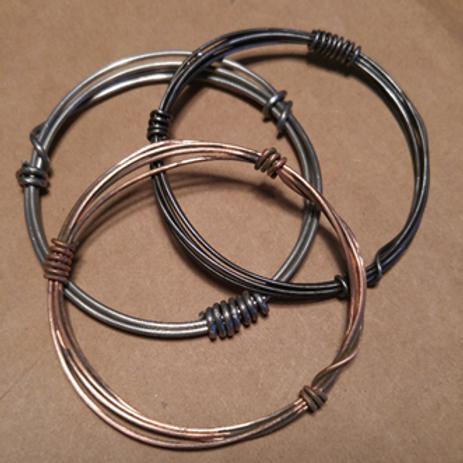 Bangles! Copper, Steel, Aluminum