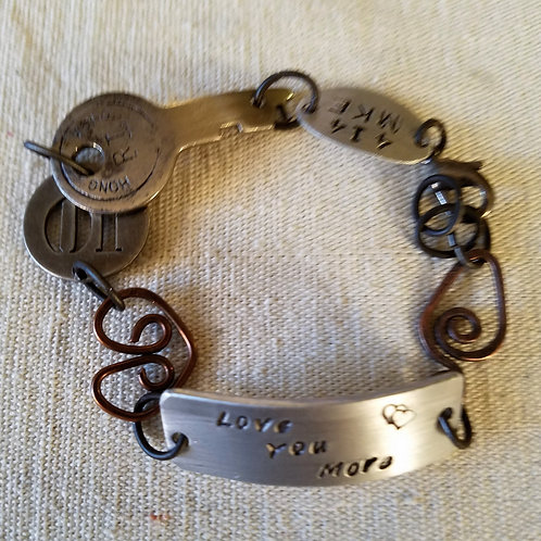 Found Objects Bracelet - Love You More