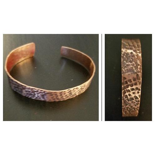 Copper Hammered Design Cuff