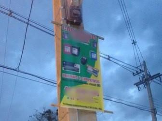 CERRP alerta sobre proibição de cartazes em postes de iluminação