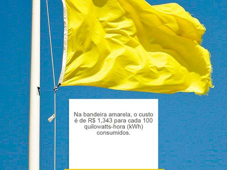 Bandeira tarifária amarela é mantida para o mês de abril