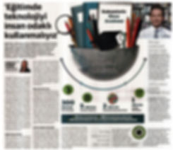 Alp Kökal - Eğitimde Teknolojiyi İnsan Odaklı Kullanmalıyız, Dünya Gazetesi Haberi