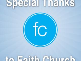 Thanks to Faith Church Volunteers...