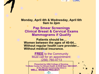 Catherine Barnes Women's Health Fair - April 4th and 6th