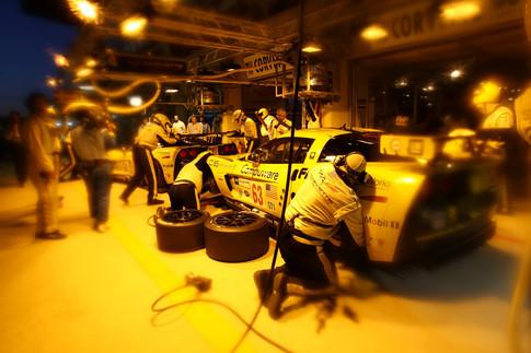 Night time Corvette Pit Stop- LeMans